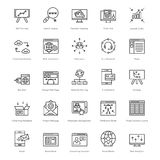 Web et SEO Line Vector Icons 40 Photos stock