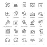 Web et SEO Line Vector Icons 12 Photo libre de droits