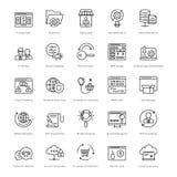 Web et SEO Line Vector Icons 45 Image libre de droits