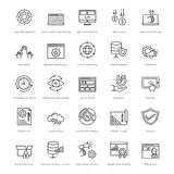 Web et SEO Line Vector Icons 13 Images stock
