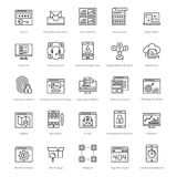 Web et SEO Line Vector Icons 38 Image stock