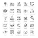 Web et SEO Line Vector Icons 51 Images stock