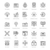 Web et SEO Line Vector Icons 55 Photo stock
