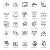 Web et SEO Line Vector Icons 48 Photo libre de droits