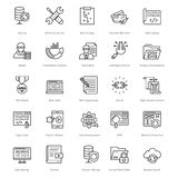 Web et SEO Line Vector Icons 24 illustration stock