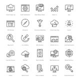 Web et SEO Line Vector Icons 18 Photo stock