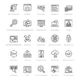 Web et SEO Line Vector Icons 34 Photographie stock