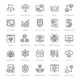 Web et SEO Line Vector Icons 56 Image stock