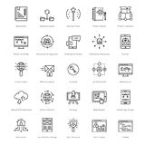 Web et SEO Line Vector Icons 43 illustration de vecteur
