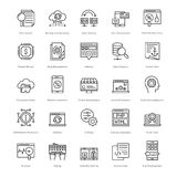Web et SEO Line Vector Icons 53 Photo stock