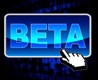 Web et versions de Beta Button Means World Wide Photo libre de droits