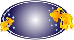 Web exótico del óvalo del agua del goldfish stock de ilustración