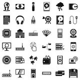 Web extension icons set, simple style. Web extension icons set. Simple style of 36 web extension vector icons for web isolated on white background Stock Photo