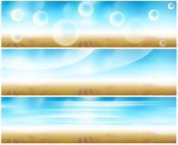 Web-Fahne des Sets 3 Lizenzfreie Stockfotografie