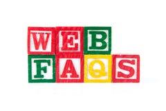 Web FAQS - Alphabet Baby Blocks on white Stock Photos