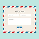 Web feedback form. With mail design for website Royalty Free Stock Photos