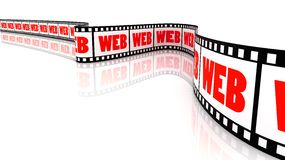 Web Film. 3D Segment color film with word Web Stock Image