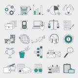 Web, finance, human resource, management icons set Royalty Free Stock Photos