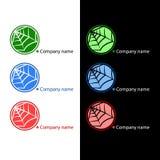 Web-Firmenzeichen Stockbild