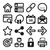 Web flat icons. Black royalty free illustration