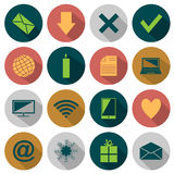Web Flat icons Stock Images