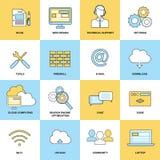 Web Flat Line Icons Stock Photos