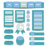 Web flat user interface elements Royalty Free Stock Image