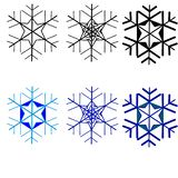 web Flocos de neve para a arte -final do projeto Escuro - teste padrão sem emenda verde, vermelho com flocos de neve do Natal Ilu ilustração stock