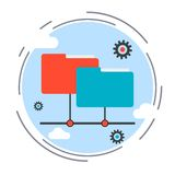 Web folder, data storage, online service vector concept Stock Image