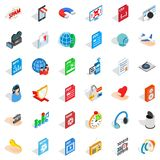 Web folder icons set, isometric style. Web folder icons set. isometric style of 36 web folder vector icons for web isolated on white background Royalty Free Stock Photography