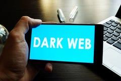 Web foncé image stock