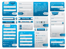 Web form design christmas edition Royalty Free Stock Photos