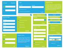 Web form with flat design. Editable web form with trendy flat design stock illustration