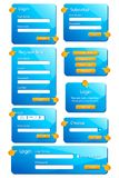 Web Form Template Stock Photography