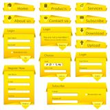 Web Form Template Royalty Free Stock Photography