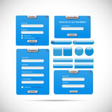 Web Form Template Illustration Royalty Free Stock Images