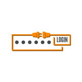 Web form to access the site Royalty Free Stock Photo