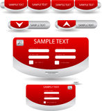 Web forms buttons and tags Stock Photo
