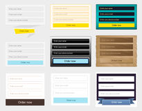 Web forms collection Stock Photography
