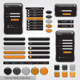 Web Forms Template. Black and yellow web forms template royalty free illustration