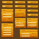 Web-Formular-Schablone Lizenzfreies Stockbild
