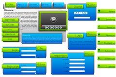 Web-Formular-Schablone Stockfotografie