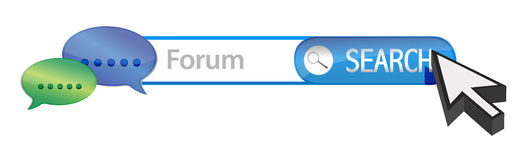 Web forum search. Illustration design over white Royalty Free Stock Image