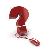 Web-Frage Lizenzfreies Stockfoto