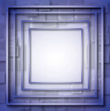 Web frame empty blue square Illustration. useful internet background. Royalty Free Stock Photography