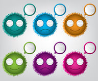 Web funny cartoon button Stock Images