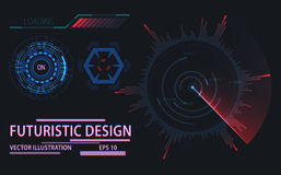 Web or game user interface futuristic elements Stock Image