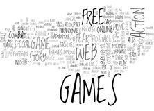 Web Games Review Fear Pc Game Word Cloud Royalty Free Stock Photography