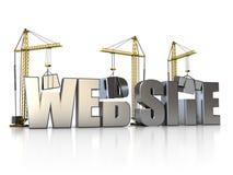 Web-Gebäude Stockbild