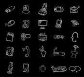 Web geplaatste de pictogrammen van verschillende media - vectorillustratie Royalty-vrije Stock Afbeeldingen